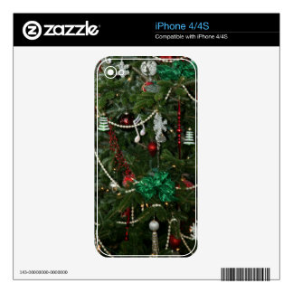 Christmas Holiday iPhone Skin 4 4S Decals For The iPhone 4S