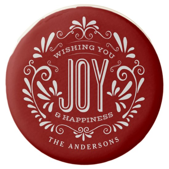 CHRISTMAS HOLIDAY JOY CHALKBOARD PERSONALIZED CHOCOLATE DIPPED OREO