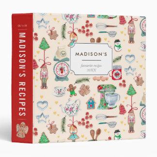 Christmas Holiday Kitchen | Custom | Recipe Binder