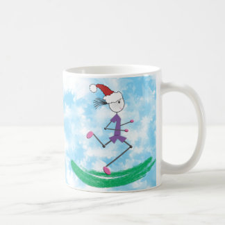 Christmas Holiday Lady Runner © Mug