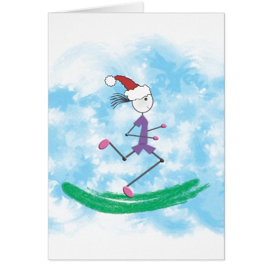 Christmas Holiday Lady Runner Note Cards