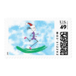 Christmas Holiday Lady Runner © Postage
