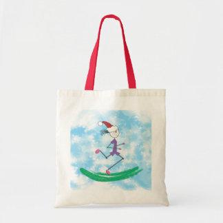 Christmas Holiday Lady Runner © Tote Bag