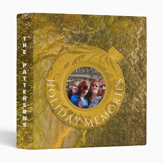 Christmas Holiday Memories Faux Gold Foil Photo Binder