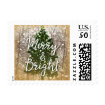 Christmas Holiday Merry & Bright Postage