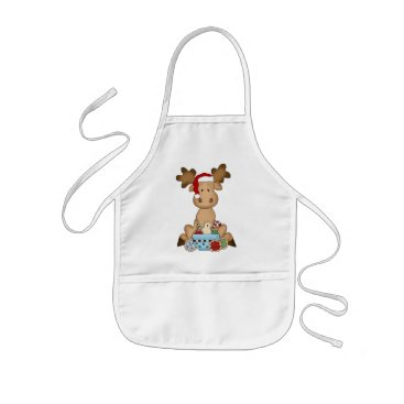 Christmas Themed Christmas Holiday Moose kids apron