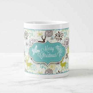 Christmas Holiday Mug - Vintage Blue Deer