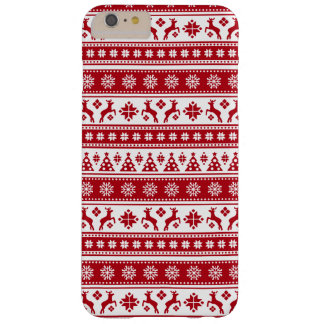 Christmas Holiday Nordic Pattern Cozy Barely There iPhone 6 Plus Case