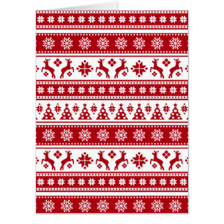 Christmas Holiday Nordic Pattern Cozy Card