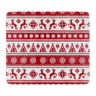 Christmas Holiday Nordic Pattern Cozy Cutting Board