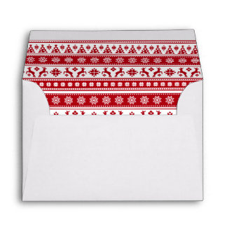 Christmas Holiday Nordic Pattern Cozy Envelope