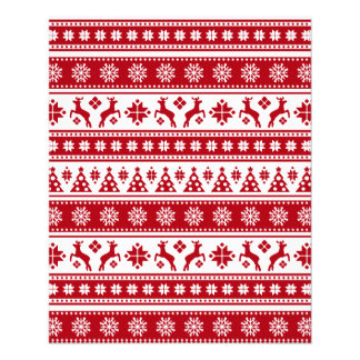 Christmas Holiday Nordic Pattern Cozy Flyer