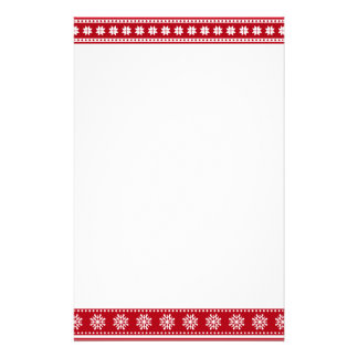 Christmas Holiday Nordic Pattern Cozy Stationery
