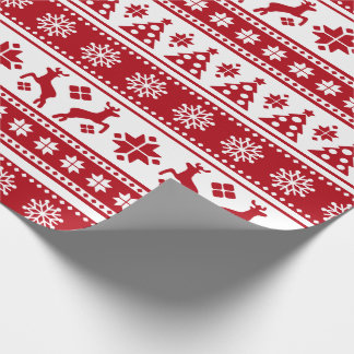 Christmas Holiday Nordic Pattern Cozy Wrapping Paper