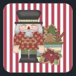 """Christmas Holiday Nutcracker cartoon sticker<br><div class=""""desc"""">design by Cheryl Seslar at www.digiwebstudio.com back by www.resaleclipart.com</div>"""