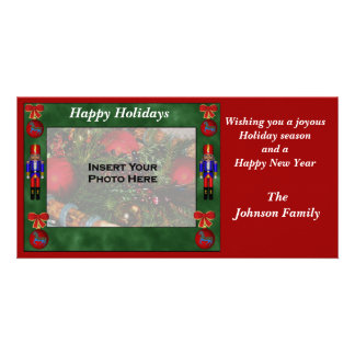 Christmas Holiday Nutcracker Ornament Photo Card