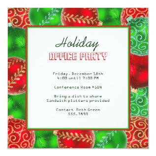 Christmas Holiday Office Party Invitations at Zazzle