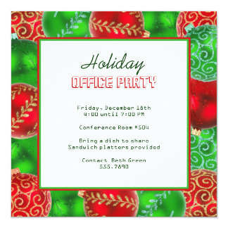 Christmas Holiday Office Party Invitations