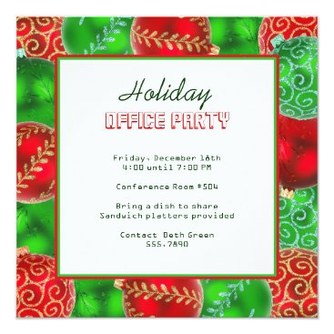 Christmas Themed Christmas Holiday Office Party Invitations
