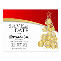 Christmas Holiday Office Party Save the Date Postcard