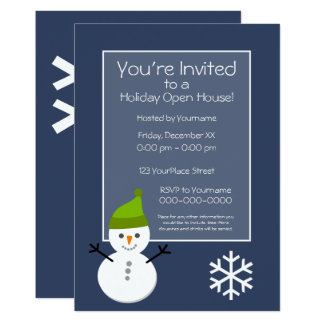 Christmas Holiday Open House Invitation