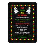 "Christmas Holiday Open House Invitations 5"" X 7"" Invitation Card"