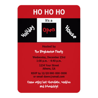 Christmas Holiday Open House Invitations HOHOHO