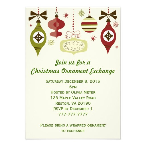 Most Popular Christmas Party Invitations