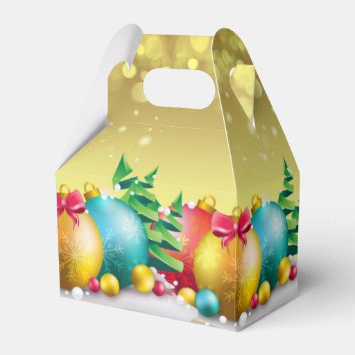 Christmas holiday ornament stylish gable box zazzle