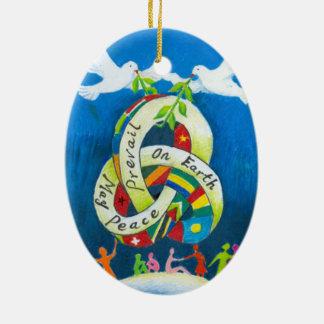 Christmas Holiday Ornament - World Peace