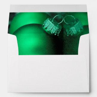 Christmas Holiday Ornaments, Green Photo Envelope