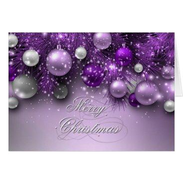Christmas Themed Christmas Holiday Ornaments - Purples Card