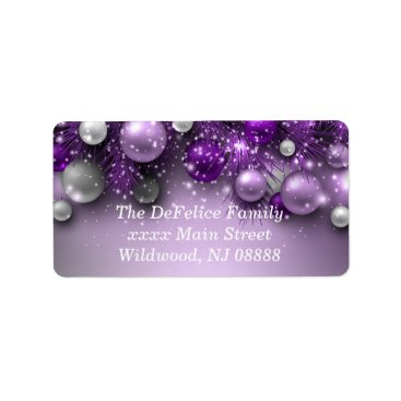 Christmas Themed Christmas Holiday Ornaments - Purples Label