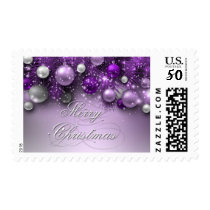 Christmas Holiday Ornaments - Purples Postage