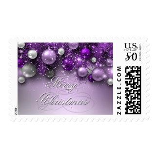Christmas Holiday Ornaments - Purples Postage