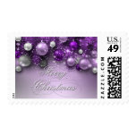 Christmas Holiday Ornaments - Purples Stamp