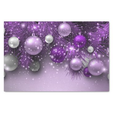 Christmas Themed Christmas Holiday Ornaments - Purples Tissue Paper