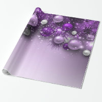 Christmas Holiday Ornaments - Purples Wrapping Paper