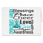 Christmas Holiday Ovarian Cancer Collage Cards