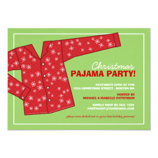 Christmas Pajama Party Invitations & Announcements   Zazzle