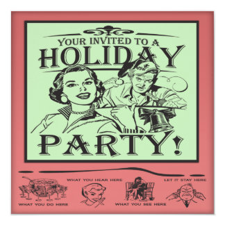 Christmas Holiday Party Card