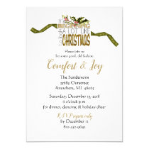 Christmas Holiday Party Comfort and Joy Invitation