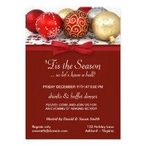 Christmas Holiday Party Custom Invitations