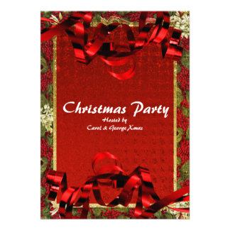 Christmas holiday party elegant office invites