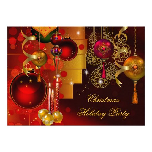christmas holiday party gold red xmas decorations. Black Bedroom Furniture Sets. Home Design Ideas