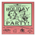 Christmas Holiday Party 5.25x5.25 Square Paper Invitation Card