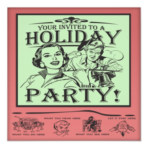 Ideal Top 50 Funny Holiday Party Invitations | Holiday Greeting Card ZX14