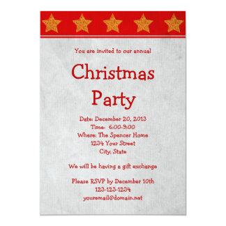 "Christmas Holiday Party Invitation or Announcement 5"" X 7"" Invitation Card"