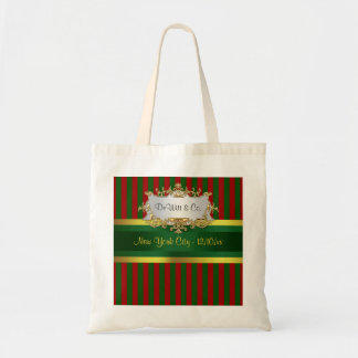 Christmas Holiday Party Invite Suite Red Grn Gold Budget Tote Bag