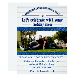 Christmas Holiday Party Photo Card